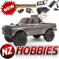 Axial 1/24 SCX24 1967 Chevrolet C10 4WD Truck Brushed RTR, Silver # AXI00001T2