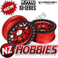 Vanquish Products VPS07713 KMC 1.9 XD127 BULLY RED ANODIZED