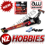 Auto World 4Gear R23 NHRA Brittany Force 2019 Advance Auto Parts Top Fuel Dragster HO Scale Slot Car