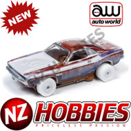 Auto World Thunderjet R26 1970 Dodge Challenger T/A (Graveyard Carz Theme) iWheels HO Scale Slot Car