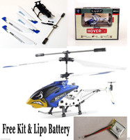 EZFly RC Hover CX Mini RTF 3 Ch Heli w/ BLUE Canopy w/ Free Kit & Lipo Battery