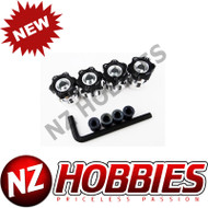 HOT RACING HRAWH17HS01 Hex Hub Adapters 12mm to 17mm W/ 6mm Offset