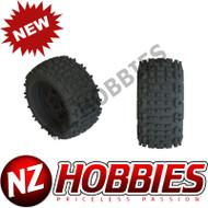 ARRMAAR550050 Backflip LP 4S Tire 3.8 Black (2) KRATON/OUTCAST