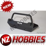 SSD Rock Shield Narrow Winch Bumper for SCX10 (Black) # SSD00138