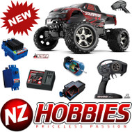 Traxxas 67086-4 Stampede 4X4 RED VXL Brushless 1/10 TSM TQi 4WD RTR Truck