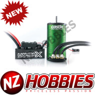 Castle Creation CSE010016000 1/10 Mamba X SCT Waterproof ESC/1415-2400Kv Sensored Brushless Motor Combo: 4mm Bullet