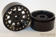 SSD RC 1.9 Steel D Hole Crawler Wheels (Black) 1:10 Off Road (2pcs) # SSD00003
