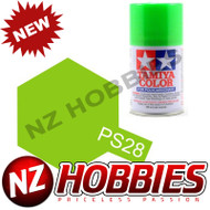 TAMIYA TAM86028 PS-28 Fluorescent Green Spray, 100 ml