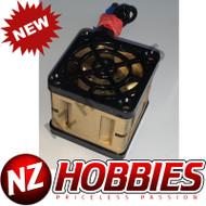 """NZHB/GCRC Custom JayTee """"MEGA FLIPS"""" RC Cooling Fan (ONE FAN) BLACK ON GOLD"""