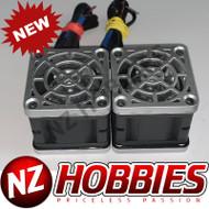 "NZHB/GCRC Custom JayTee ""MEGA FLIPS"" RC Cooling DUAL FANS Silver ON Black"