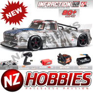 ARRMA 1/7 INFRACTION 6S BLX All-Road Truck Silver RTR # ARA7615V2T2