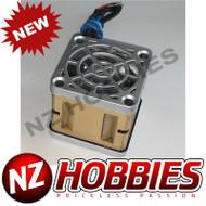 """NZHB/GCRC Custom JayTee """"MEGA FLIPS"""" RC Cooling Fan (ONE FAN) SILVER ON GOLD"""