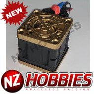 """NZHB/GCRC Custom JayTee """"MEGA FLIPS"""" RC Cooling Fan (ONE FAN) GOLD ON BLACK"""
