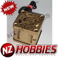 "NZHB/GCRC Custom JayTee ""MEGA FLIPS"" RC Cooling Fan (ONE FAN) GOLD ON GOLD"