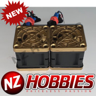 "NZHB/GCRC Custom JayTee ""MEGA FLIPS"" RC Cooling DUAL FANS Gold ON Black"