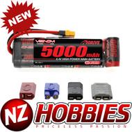 Venom 1527-7 8.4v 5000mAh 7-Cell NiMH Battery Flat TRX DEANS EC3 XT60