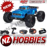 ARRMA ARA8611V5T2 NOTORIOUS 6S 4WD BLX 1/8 Stunt Truck RTR BLUE