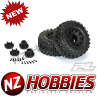 """Proline PRO1017410 Badlands MX28 HP 2.8"""" All Terrain BELTED Truck Tires Mounted"""
