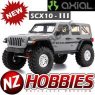Axial AXI03003T1 SCX10 III Jeep JL Wrangler w/Portals 1/10th RTR Gray