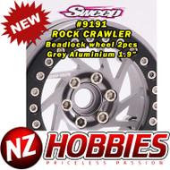 Sweep RC Crawler Beadlock 1.9 Grey Aluminium Wheel 2pcs set
