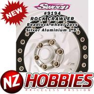 Sweep RC Crawler Beadlock 1.9 Silver Aluminium Wheel 2pcs set