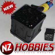 """NZHB/GCRC Custom JayTee """"MEGA FLIPS"""" RC Cooling Fan (ONE FAN) BLACK ON BLACK"""