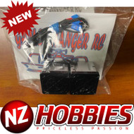 GCRC High Flow DUAL RC Cooling Fans 2s or 3s Lipo Compatible Black on SILVER