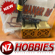 GCRC High Flow DUAL RC Cooling Fans 2s or 3s Lipo Compatible GOLD ON GOLD