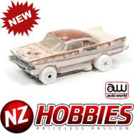 AUTO WORLD THUNDERJET 1958 PLYMOUTH FURY - CHRISTINE (FOR SALE-DIRTY) IWHEELS HO SCALE SLOT CAR