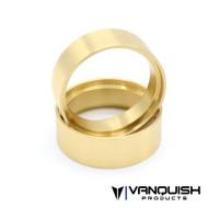 "Vanquish 1.9 BRASS 0.8"" WHEEL CLAMP RINGS (PAIR) # VPS05253"