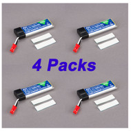 4 Pack E-Flite MQX 500mAh 1-Cell 3.7V 25C LiPo Battery QUAD COPTER # EFLB5001S25