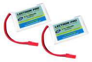 Lectron Pro 3.7 volt 700mAh 30C LiPo Battery 1S700-30-L (2 Packs) LaTrax Alias