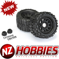 """Proline 1/8 Trencher HP BELTED F/R 3.8"""" MT Tires Mounted 17mm Black Raid (2)"""