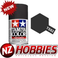 TAMIYA TAM85082 Spray Lacquer TS-82 Black Rubber