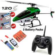 Blade 120 S RTF Helicopter with SAFE® Technology w/ 3X Lipo Battery # BLH4100