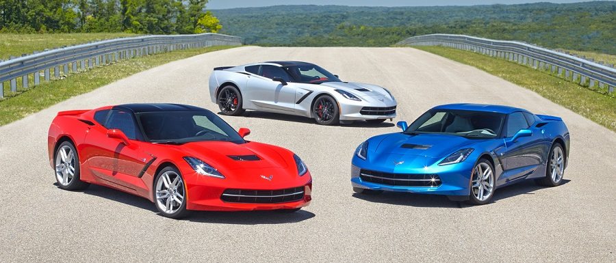 Red, Silver & Blue C7 Vettes