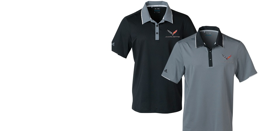 C7 Corvette Mens Adidas Polo Shirts