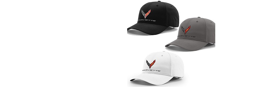 C8 Corvette Hats - Black, Gray & White!