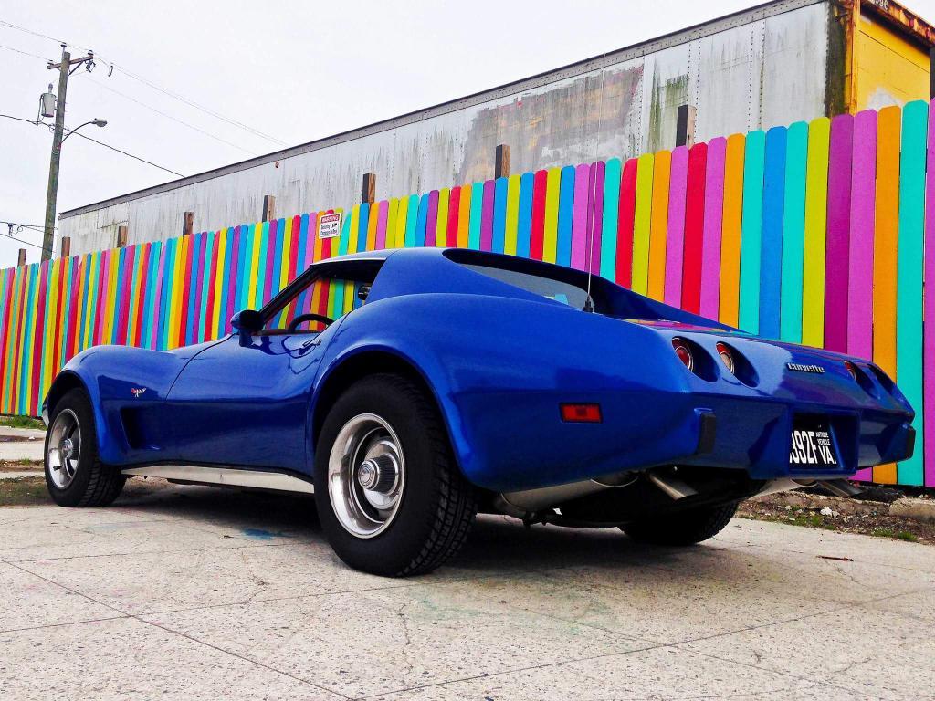 1977 79 Corvette Metallic Blue 2014 Stingray