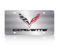 C7 Corvette Logo/Script SS License Plate