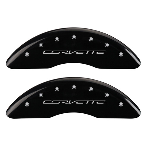 Corvette Brake Caliper Cover Black (front)