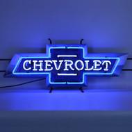 Vintage Chevrolet Bowtie Neon Sign