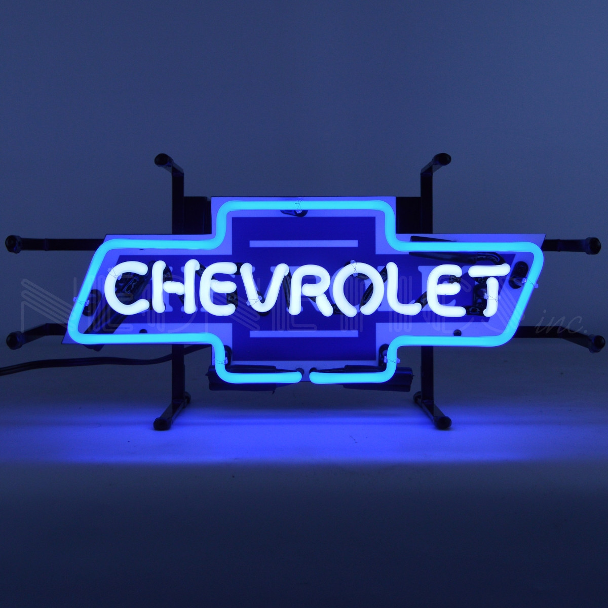 Vintage Chevrolet Bowtie Neon Sign - Small