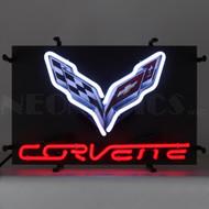 Small C7 Corvette Emblem Neon Sign