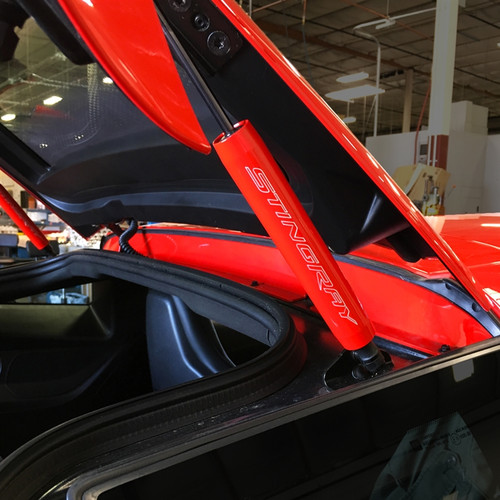 C7 Corvette Trunk Shock Covers (shown w/ SR lettering)