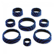 C7 Corvette Interior Knob Kit - Carbon Fiber Admiral Blue