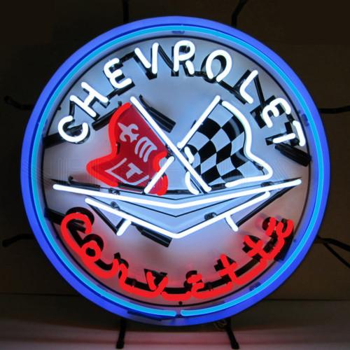 C1 Corvette Emblem Neon Sign with Backing