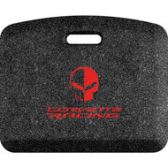 Red C7 Corvette Racing Logo Mosaic Onyx 22x18 Mat