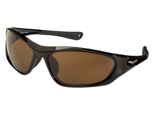 Black TCG C6 Corvette Sunglasses - Brown Tint