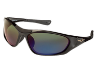 Black TCG C6 Corvette Sunglasses - Gray/Green with Gradient Blue Mirror Tint
